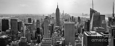 B Photograph - New York Moody Skyline  by Az Jackson