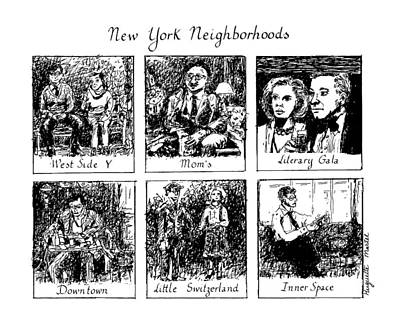 Chimpanzee Drawing - New York Neighborhoods by Huguette Marte