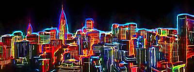 New York Neo View 3 Art Print by Yury Malkov