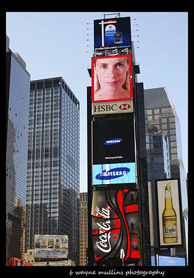 Art Print featuring the photograph New York New York by B Wayne Mullins