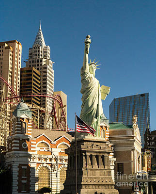 Photograph - New York New York Casino Las Vegas Nevada by Edward Fielding