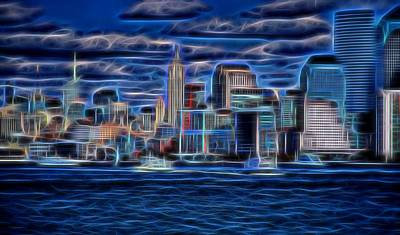 Nyc Mixed Media - New York New York  by Dan Sproul