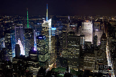Cities Royalty-Free and Rights-Managed Images - New York New York by Delphimages Photo Creations