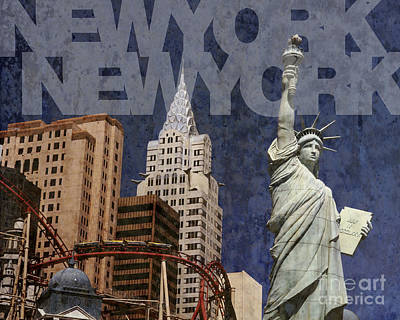 New York New York Las Vegas Art Print