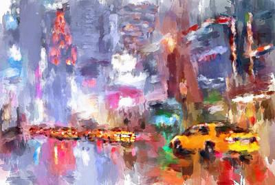 New York Night Lights 4 Art Print by Yury Malkov