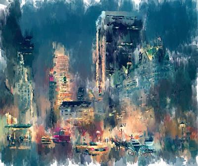 New York Night Lights Art Print by Yury Malkov