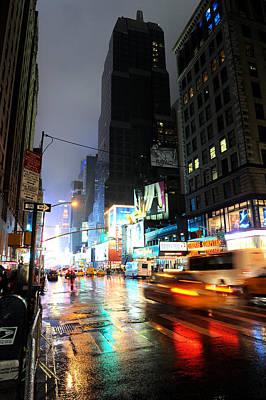 New York Night Art Print by Stephen Richards