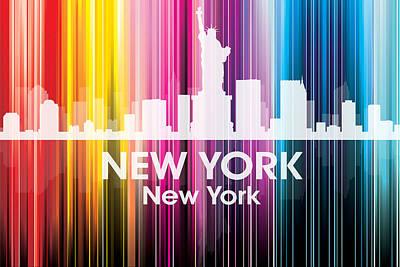 Cities Mixed Media - New York NY 2 by Angelina Vick