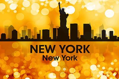 Ny Skyline Mixed Media - New York Ny 3 by Angelina Vick