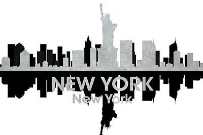 Ny Skyline Mixed Media - New York Ny 4 by Angelina Vick