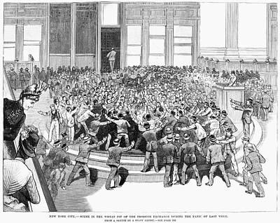 New York Panic, 1887 Art Print