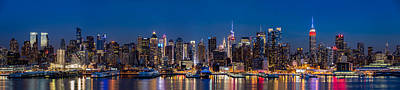 New York Panorama At Dusk Original