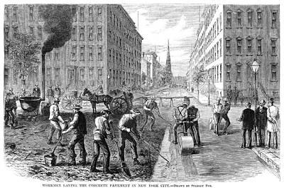 New York Pavement, 1869 Art Print by Granger