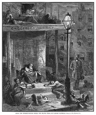 Tenements Painting - New York Poverty, 1879 by Granger