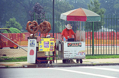 Photograph - New York Pretzel Guy by Frank Romeo