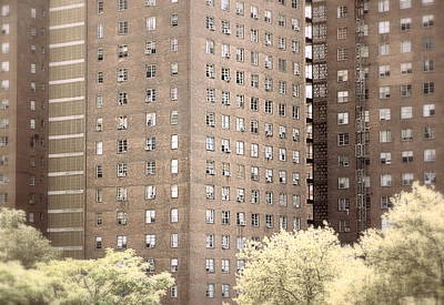 Photograph - New York Public Housing by Valentino Visentini