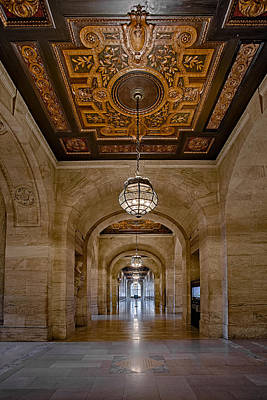 Photograph - New York Public Library Corridor by Susan Candelario