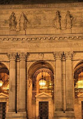 College Avenue Photograph - New York Public Library by Dan Sproul