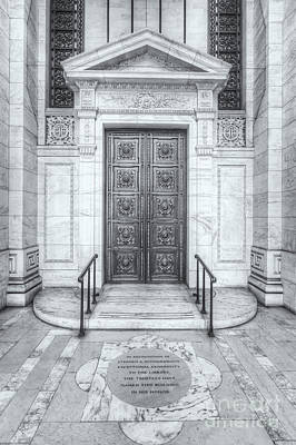 Photograph - New York Public Library Entrance II by Clarence Holmes