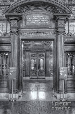 Photograph - New York Public Library Main Reading Room Entrance II by Clarence Holmes