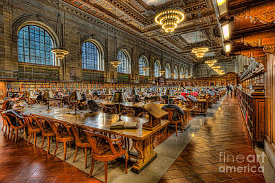 Photograph - New York Public Library Main Reading Room II by Clarence Holmes