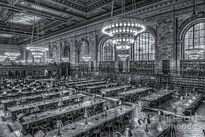 Photograph - New York Public Library Main Reading Room X by Clarence Holmes