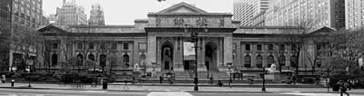 Library Digital Art - New York Public Library by Georgia Fowler