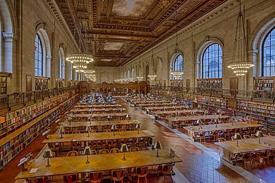 Photograph - New York Public Library Rose Room  by Susan Candelario