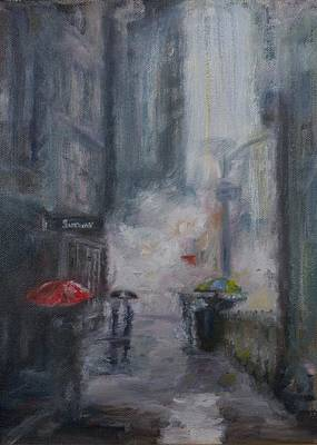Painting - New York Rain by Edward White