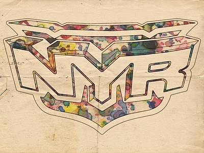 Painting - New York Rangers Retro Poster by Florian Rodarte