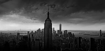 Empire State Photograph - New York Rockefeller View by Wim Schuurmans