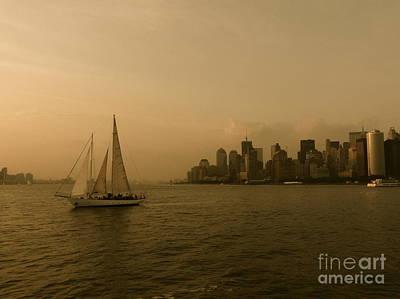 New York Sailing Art Print by Avis  Noelle