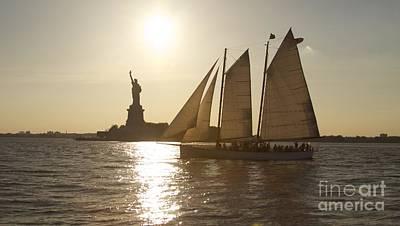 New York Sailing Art Print by Sean Conklin