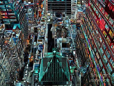 Futurism Architecture Wall Art - Photograph - New York Seen From Above - Midtown Manhattan by Miriam Danar