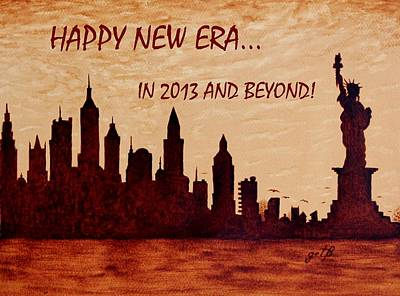 City Sunset Digital Art - New York Silhouettes by Costinel Floricel