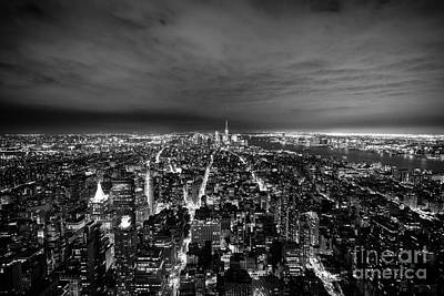 Photograph - New York Skyline 1bw by Matt Malloy