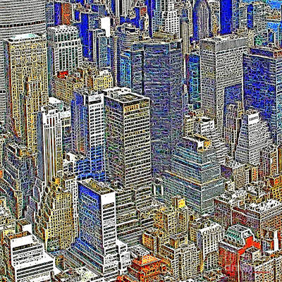 New York Skyline 20130430v5-square Art Print by Wingsdomain Art and Photography