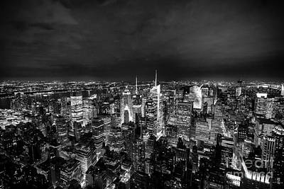 Photograph - New York Skyline 3bw by Matt Malloy