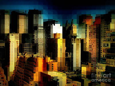 Photograph - New York Skyline 4 - City Blocks Building Blocks Series by Miriam Danar