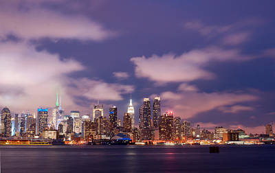 Photograph - New York Skyline 50mm From Weehawken Nj by Rospotte Photography