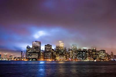 U2 Photograph - New York Skyline 9-11-2009 by Alex Hiemstra