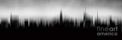 Empire State Building Digital Art - New York Skyline Abstract by Az Jackson