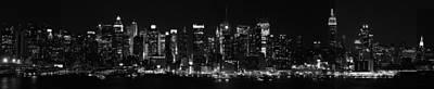 New York Night Photograph - New York Skyline At Night Panoramic by Philip Ralley