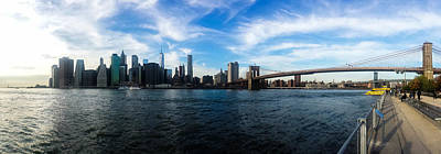 Panorama Wall Art - Photograph - New York Skyline - Color by Nicklas Gustafsson