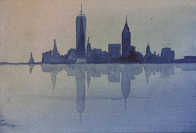 New York Skyline  Art Print by Donna Walsh