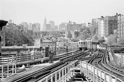Photograph - New York Skyline From Bronx by Dave Beckerman