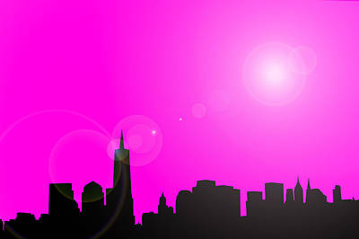 Royalty-Free and Rights-Managed Images - New York Skyline Illustration by Erin Cadigan