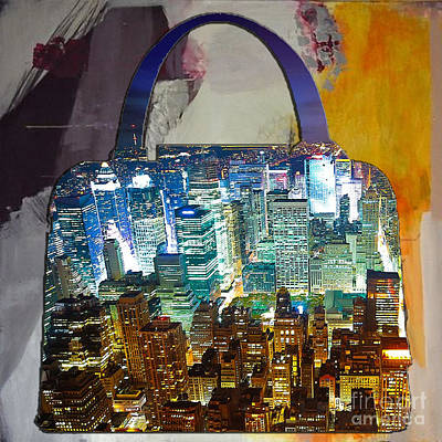 Mixed Media - New York Skyline In A Handbag by Marvin Blaine