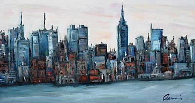 New York Skyline Art Print by Michael  Accorsi