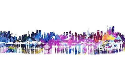 Painting - New York Skyline by Doc Braham
